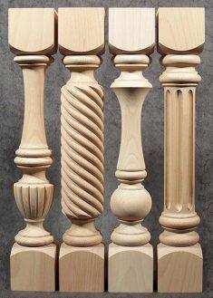 Colonne di legno
