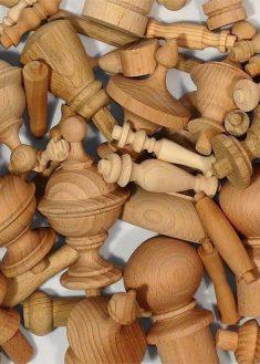 Colonnina in legno