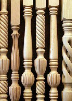 Colonnine in legno per scale