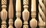 Colonnine in legno per scale-icone