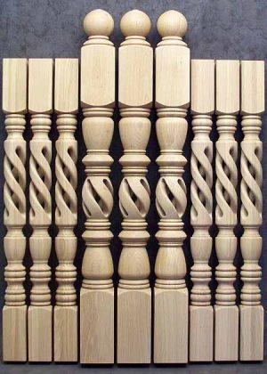 Elementi in legno per scale di stile diverso per la colonna caposcala PG001