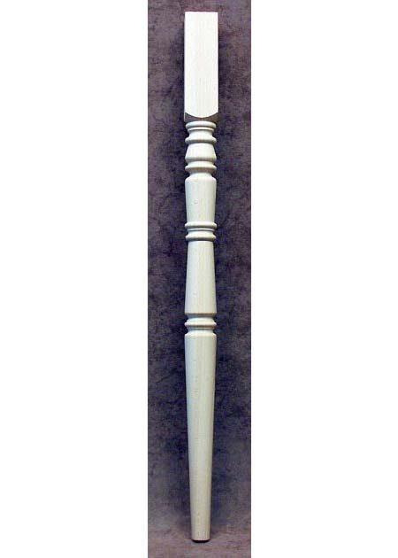 Gamba in legno tornita per tavoli a coni contrapposti TL60