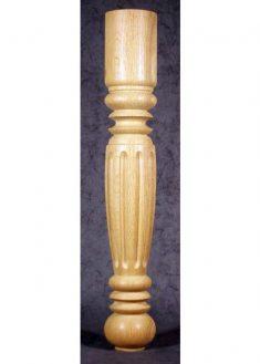 Gamba tavolo in legno tornita e decorata con solchi larghi TL09
