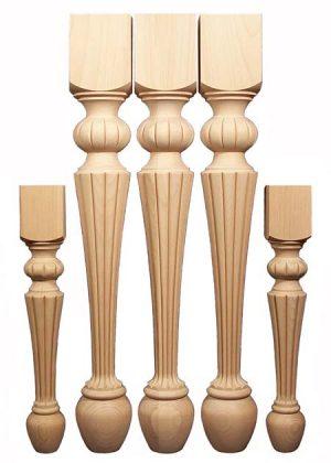 Gambe per tavoli in legno in due dimensioni TLW103