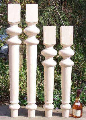 Gambe per tavoli legno con due altezze, dal diametro aumentato TL013