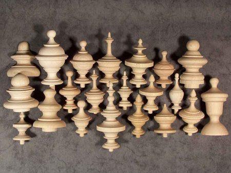 Pigne in legno per orologi con varie decorazioni e misure GZ1101