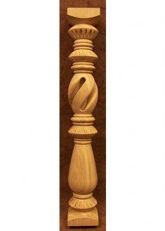 Colonnine in legno per scale C1100C